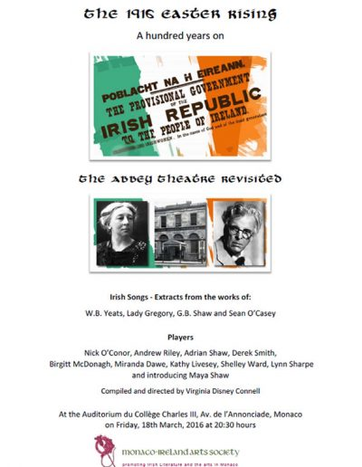 The 1916 Easter Rising 2016