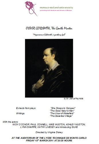 Oliver Goldsmith, The Gentle Master